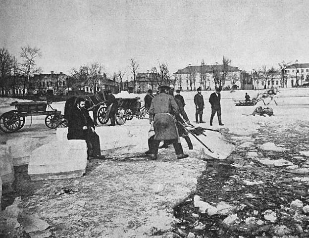 Заготовка льда на Москве реке