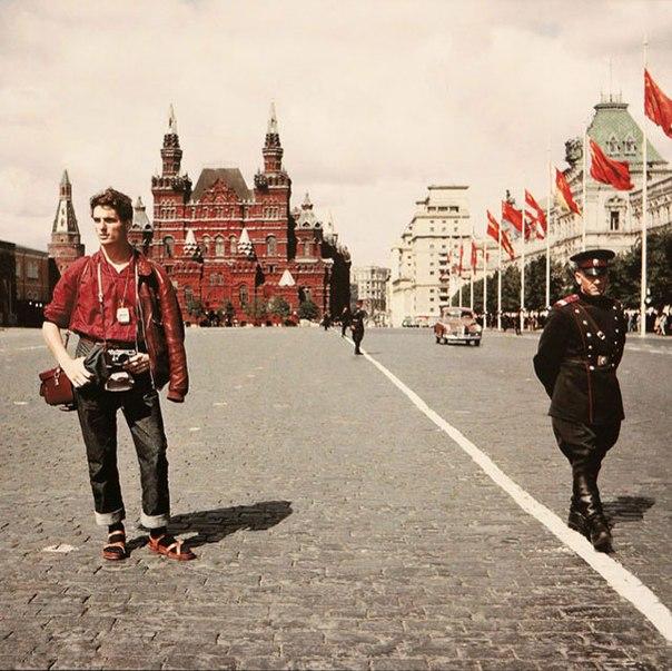 Швейцарский турист на Красной площади