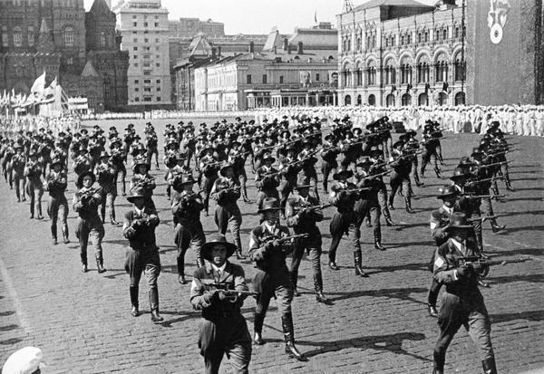 Снайперы на параде, Красная Площадь