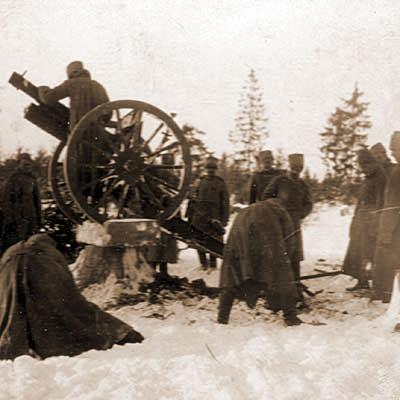 Стрельба из пушки по воздушному противнику