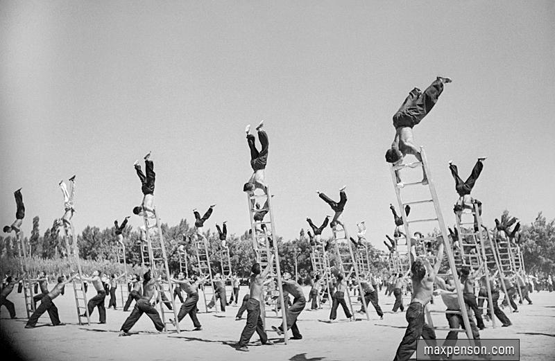 Физкультурники - репетиция для парада