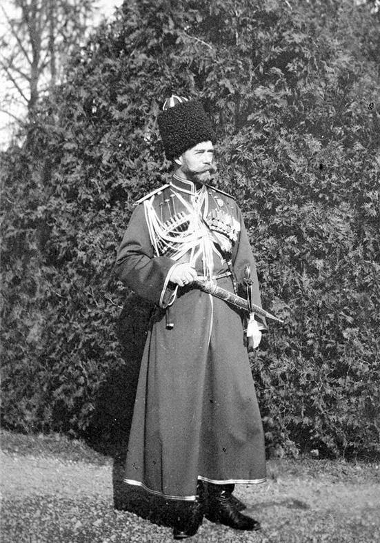 Николай II в казачьем кафтане