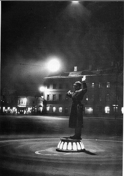 Регулировщик на Арбатской площади