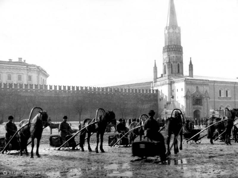 Извозчики на Красной площади