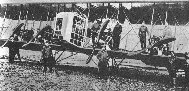 Первый в мире четырехмоторный бомбардировщик «Илья Муромец»