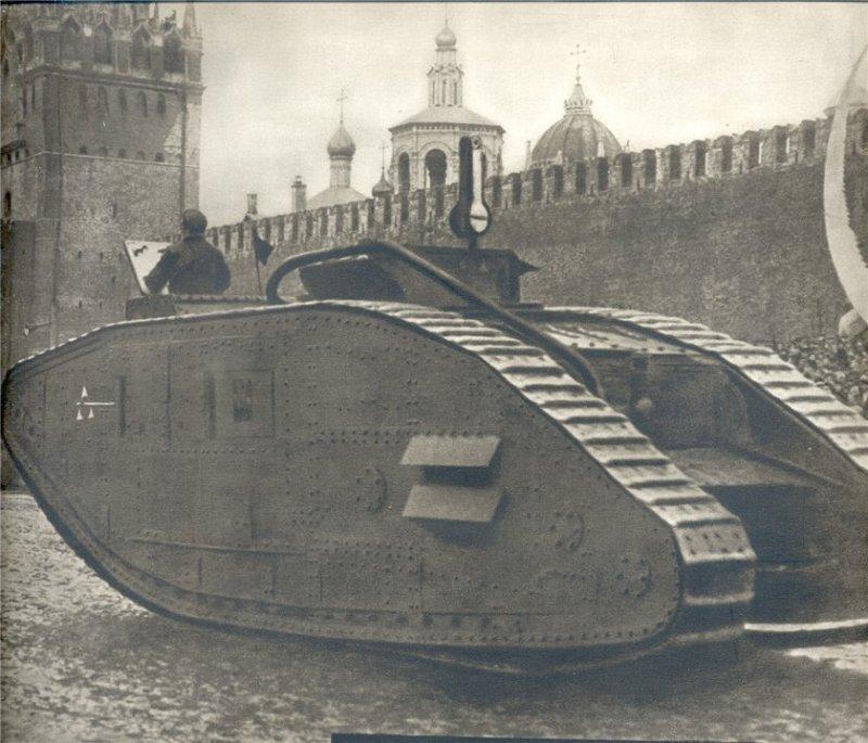 Английский танк, захваченный под Архангельском