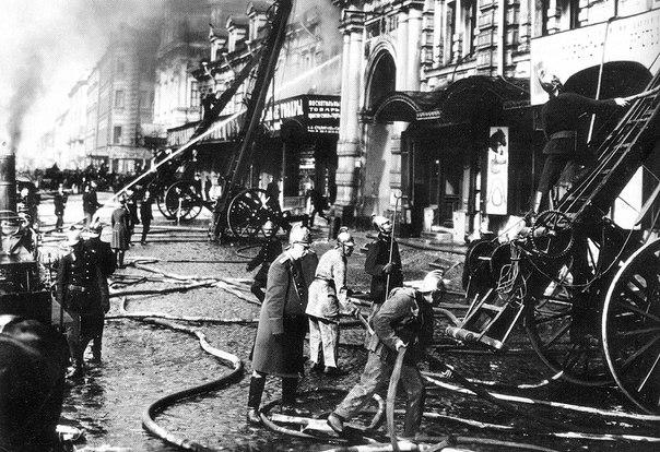 Пожар на набережной Фонтанки