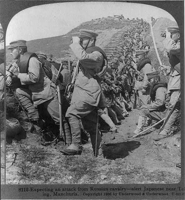 Японские войска ожидают атаку Русской кавалерии