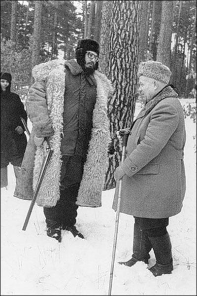 Фидель Кастро и Никита Хрущев на охоте