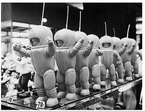 "Советские игрушки ""космонавты"""