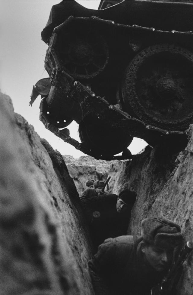 Обкатка пехоты танками на Курской дуге