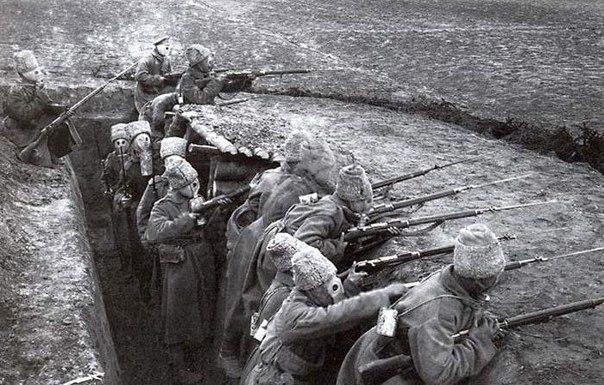 Окоп, ожидание химической атаки