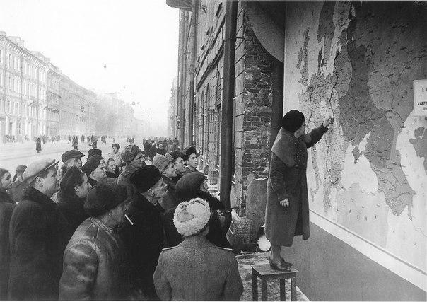Установка на карте новой линии фронта после наступления Красной Армии
