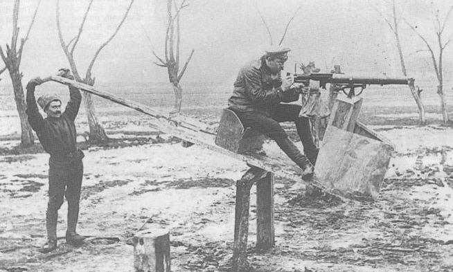 Тренажёр для стрельбы из авиационного пулемёта