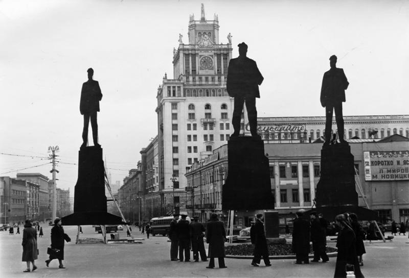 Выбор места под памятник Маяковского